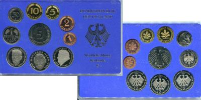 Изображение Подарочные монеты Германия ФРГ Монеты 1990 (чеканка Карлсруэ) 1990  Proof