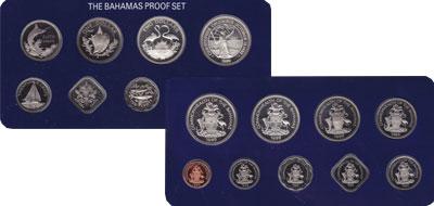 Изображение Подарочные монеты Багамские острова Выпуск 1989 года 1989 Серебро Proof