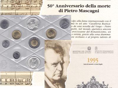 Изображение Подарочные монеты Европа Италия Пьетро Масканьи 1995  UNC