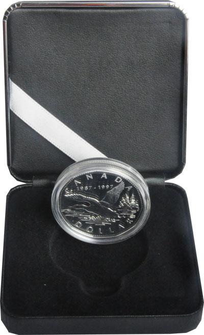 Изображение Подарочные монеты Канада 1 доллар 1997 Серебро Proof