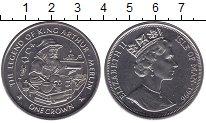 Изображение Мелочь Великобритания Остров Мэн 1 крона 1996 Медно-никель UNC