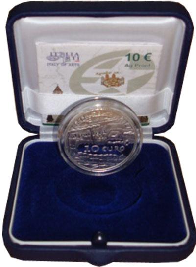 Изображение Подарочные монеты Италия Искусство Италии 2010 Серебро Proof