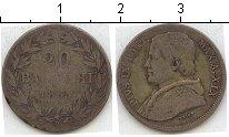 Изображение Монеты Ватикан 20 байоччи 1865 Серебро