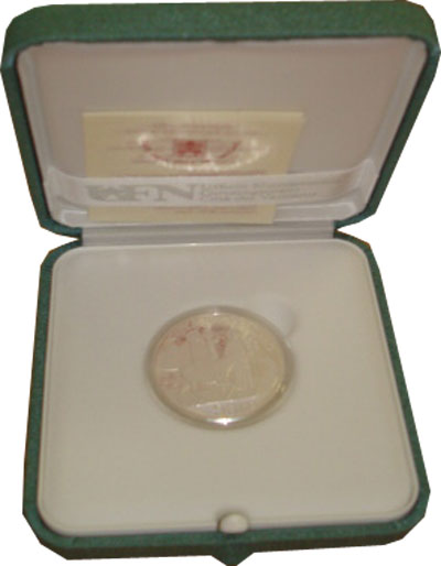 Изображение Подарочные монеты Европа Ватикан Международный день миграции 2010 Серебро Proof