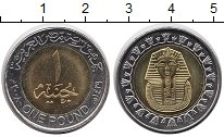 Изображение Мелочь Африка Египет 1 фунт 0 Биметалл