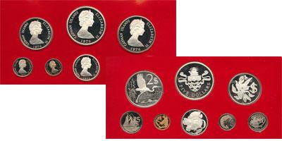 Изображение Подарочные монеты Великобритания Каймановы острова Выпуск 1977 года 1977  Proof