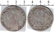 Изображение Монеты Южная Америка Перу 4 реала 1836 Серебро