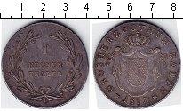 Изображение Монеты Баден 1 талер 1817 Серебро XF+
