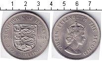 Изображение Мелочь Великобритания Остров Джерси 5 шиллингов 1966 Медно-никель UNC-