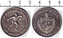 Изображение Мелочь Куба 1 песо 1983 Медно-никель UNC