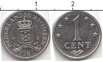 Изображение Мелочь Антильские острова 1 цент 1981 Алюминий XF+ Нидерландские Антиль