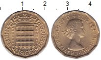 Изображение Мелочь Европа Великобритания 3 пенса 1966  UNC-