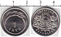Изображение Мелочь Латвия 1 лат 2009 Медно-никель UNC