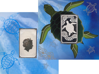 Изображение Подарочные монеты Австралия Австралийская черепаха 2008 Серебро UNC
