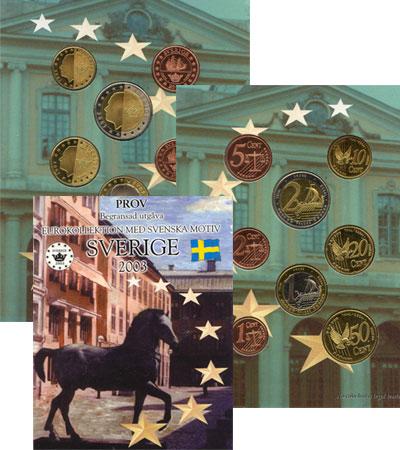Изображение Подарочные монеты Европа Швеция Псевдо-евронабор 2003 2003  UNC