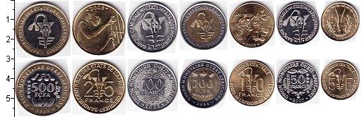 Изображение Наборы монет Центральная Африка КФА КФА 2005-2008 0  AUNC