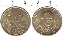 Изображение Мелочь Ватикан 50 евроцентов 2012 Латунь UNC