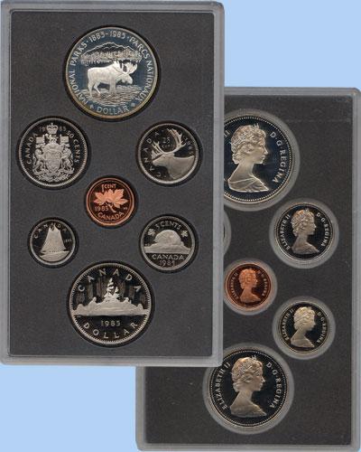 Изображение Подарочные монеты Северная Америка Канада Памятный набор 1985 года 1985  Proof