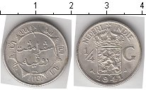 Изображение Мелочь Нидерландская Индия 1/4 гульдена 1941 Серебро UNC-