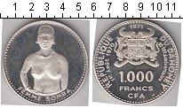 Изображение Монеты Дагомея 1000 франков 1971 Серебро Proof- KM# 4.1 51.5000 g.,