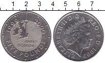 Изображение Мелочь Европа Великобритания 5 фунтов 1999 Медно-никель UNC-