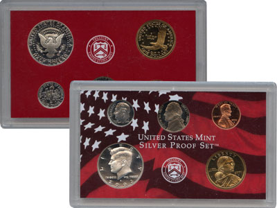 Изображение Подарочные монеты Северная Америка США Набор монет 2002 года в качетсве пруф 2002  Proof