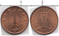 Изображение Мелочь Антильские острова 1 цент 1976 Медь XF+