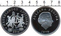 Изображение Монеты Антильские острова 25 гульденов 1979 Серебро UNC-
