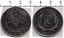 Изображение Монеты Карибы 10 долларов 1981 Медно-никель UNC-