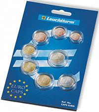 Изображение Аксессуары для монет Капсулы для монет Комплект капсул для годового набора монет Евро (302469) 0
