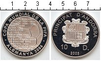 Изображение Монеты Европа Андорра 10 динерс 2003 Серебро Proof-