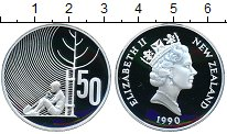 Изображение Монеты Австралия и Океания Новая Зеландия 50 центов 1990 Серебро Proof-