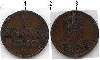 Изображение Монеты Германия Ганновер 1 пфенниг 1846 Медь