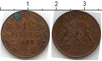 Изображение Монеты Германия Нассау 1 пфенниг 1860 Медь
