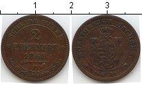 Изображение Монеты Германия Саксен-Альтенбург 2 пфеннига 1866 Медь VF