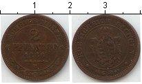 Изображение Монеты Саксен-Альтенбург 2 пфеннига 1866 Медь