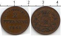 Изображение Монеты Бавария 2 пфеннига 1868 Медь