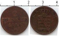 Изображение Монеты Саксе-Мейнинген 2 пфеннига 1853 Медь VF