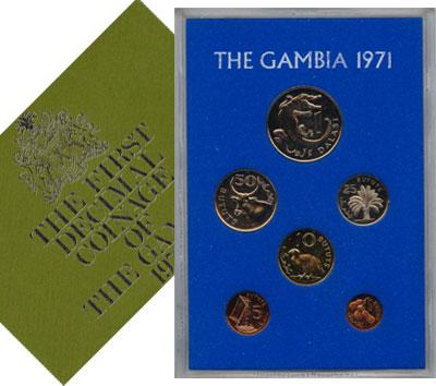 Изображение Подарочные монеты Африка Гамбия Выпуск 1971 года 1971  UNC