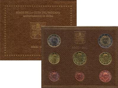 Изображение Подарочные монеты Ватикан Евронабор 2011 года выпуска 2011  UNC