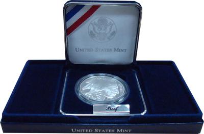 Изображение Подарочные монеты Северная Америка США Буффало 2001 Серебро Proof