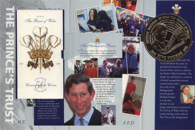 Изображение Подарочные монеты Великобритания 50-летний юбилей Принца Уэльского 1998 Медно-никель UNC