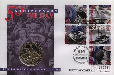 Изображение Подарочные монеты Великобритания Гернси 2 фунта 1995 Медно-никель UNC
