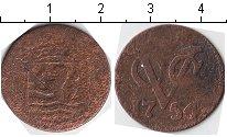 Изображение Монеты Нидерландская Индия 1 дьюит 1754 Медь VF