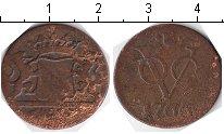 Изображение Монеты Нидерландская Индия 1 дьюит 1766 Медь VF