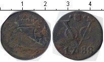 Изображение Монеты Нидерландская Индия 1 дьюит 1788 Медь VF