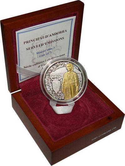 Изображение Подарочные монеты Европа Андорра 10 динерс 2008 Серебро UNC