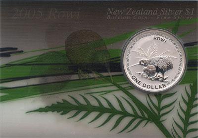 Изображение Подарочные монеты Австралия и Океания Новая Зеландия 1 доллар 2005 Серебро UNC