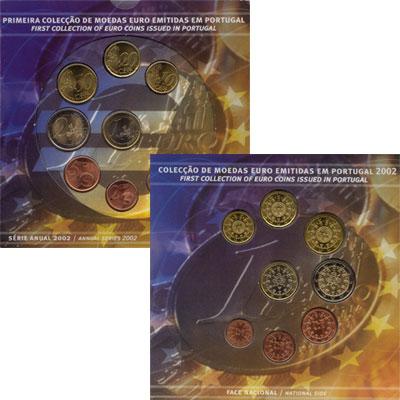 Изображение Подарочные монеты Европа Португалия Евронабор 2002 года выпуска 2002  UNC