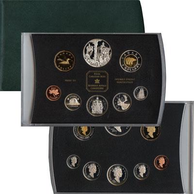 Изображение Подарочные монеты Северная Америка Канада 50-летний юбилей Елизаветы 2002  Proof